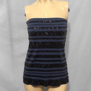 Express Blue Sequin Tube Top